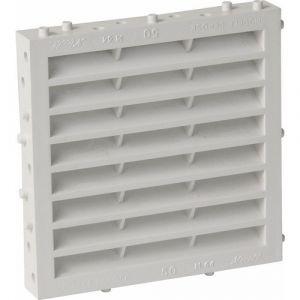 Nicoll Grille façade carrée à combinaison moust. 100cm² blanc M114 -