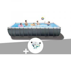 Intex Kit piscine tubulaire Ultra XTR Frame rectangulaire 7,32 x 3,66 x 1,32 m + Kit de traitement au chlore