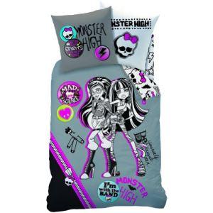 Monster High - Housse de couette et taie 100% coton (140 x 200 cm)