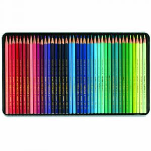 Image de Caran d'Ache Prismalo Crayons de couleur aquarelle Assortiment de couleurs Lot de 40 (Import Royaume Uni)