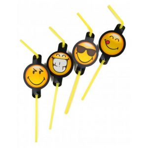 8 pailles Smiley Emoticons