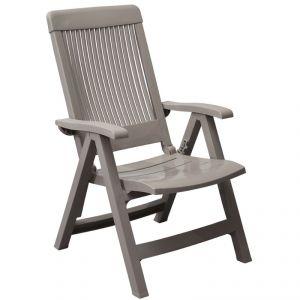 Grosfillex Fidji 3 - 2 fauteuils de jardin dossier réglable en résine