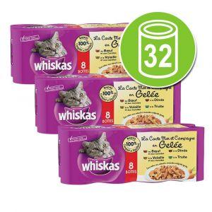 Whiskas En gelée 4 variétés 8x 380g - Lot de 3