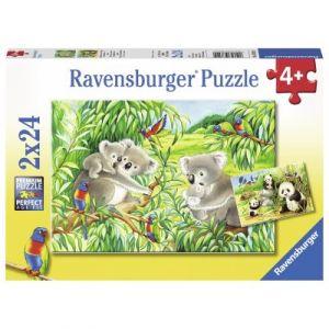 Ravensburger 2 puzzles - Mignons Koalas et Pandas