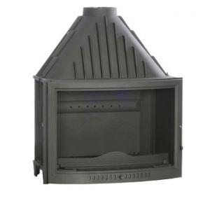 Ferlux 810 - Insert foyer de cheminée en fonte face arrondie 17,5 kw