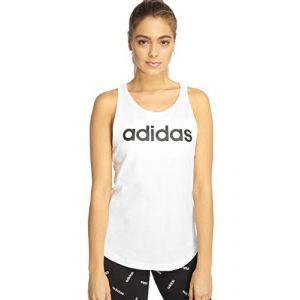 Adidas Women´s Essentials Linear Loos Tank - Débardeur taille L, blanc/gris