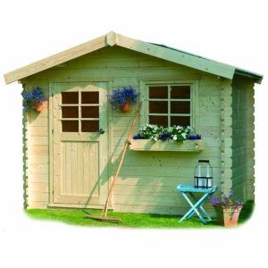 Solid S877 - Abri de jardin Sologne en bois 28 mm 7,53 m2