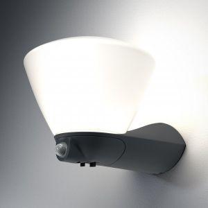 Osram ENDURA STYLE Boule lanterne applique extérieure 7 watt Gris - Détecteur - Oui