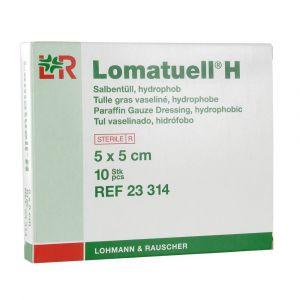 Lohmann & Rauscher Lomatuell H - Pansement gaze avec de la paraffine 5 cm x 5 cm