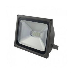 Vision-El Projecteur Plat Gris 50W (450W) IP65 Led BLANC Froid 6000°K -