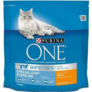 Purina Croquettes One pour Chats stérilisé au boeuf 1,5 kg