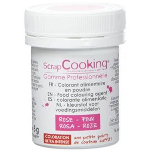 Scrapcooking Colorant artificiel en poudre rose
