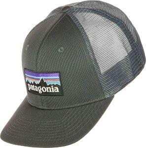 Patagonia P-6 Logo Trucker Casquette de pêche pour homme Taille unique Forge gris