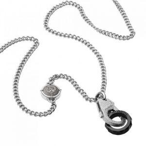 Diesel : Collier et pendentif Bijoux DX1150040 - Collier et pendentif Acier Homme