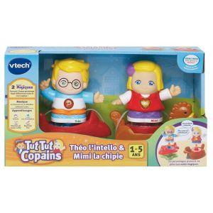 Vtech Coffret Duo Tut Tut Copains : Mimi + Théo à bascule