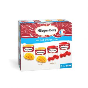 Häagen-dazs Sorbet attraction - Les 4 minicups, 356g
