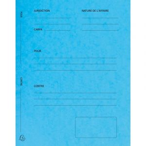 Exacompta 220102E - Paquet de 25 dossiers de plaidoirie Pour/Contre, en carte 265 g/m², coloris bleu turquoise