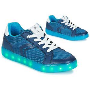 Geox J Kommodor A, Sneakers Basses Garçon, Bleu (Navy/Lt Blue), 35 EU