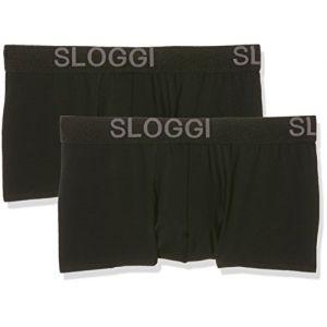 Sloggi Men Avenue Hipster C2P, Boxer Homme, Noir, Taille 4, Lot de 2