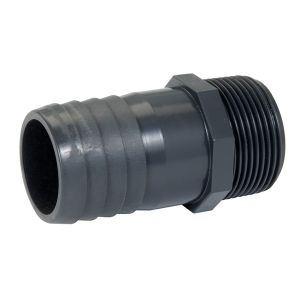 Nicoll EKV63 - Embout cannelé à filetage gaz male Diam.63