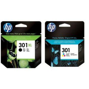 HP Cartouche d'encre Pack 301 XL Noir+301 Couleurs - BUN301EE