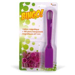 France Cartes Kit bingo : 100 jetons et 1 bâton magnétique
