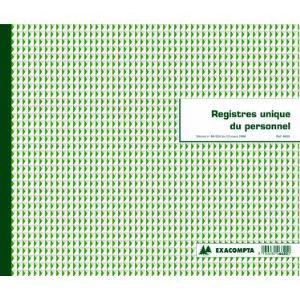 Exacompta Registres sociaux unique du personnel 40 pages (270 x 320 mm)