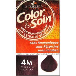 3 Chênes Color & Soin 4M châtain acajou - Coloration permanente