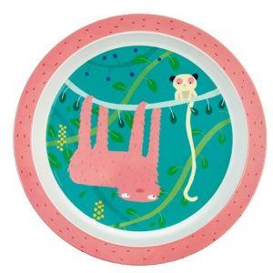Petit Jour Assiette bébé La jungle Arty Frog Le paresseux