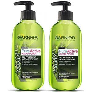 Garnier PureActive Wasabi Power - Gel fraîcheur purifiant peaux grasses