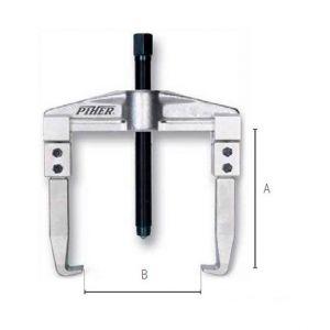 PIHER Extracteur d'engrenage 2 griffes réversibles L. 100 mm - 72010