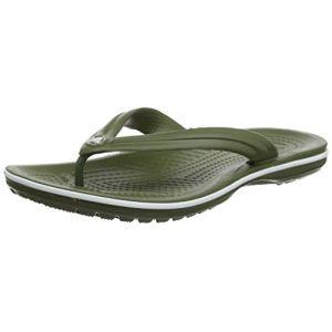Crocs Crocband Flip, Tongs Mixte Adulte, Vert (Army Green/White 37p), 38/39 EU