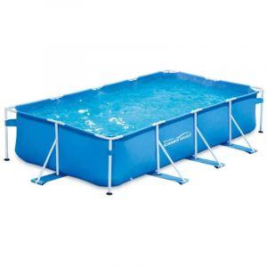 Summer Waves Piscine Tubulaire rectangulaire 4,57x2,13x0,84m, Bleu