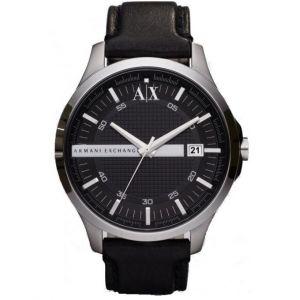 Giorgio Armani AX2101 - Montre pour homme avec bracelet en cuir