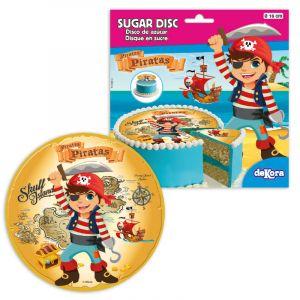 Disque en sucre Pirate Ø 16cm