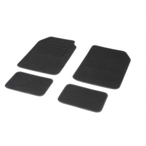 DBS 4 tapis voiture universels moquette noirs