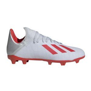 Adidas X 19.3 FG J, Chaussures de Football bébé garçon, Argenté
