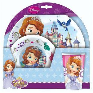 124056 - Set melamine 3 pièces Princesse Sofia