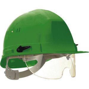 Taliaplast 564513 - Casque de chantier avec lunette escamotable vert