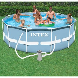 Intex 28726 piscine tubulaire ronde 3 66 x 1 22 m for Piscine tubulaire 1 22