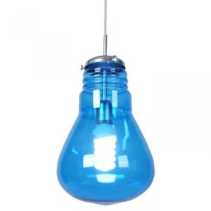 Suspension verre forme ampoule traditionel