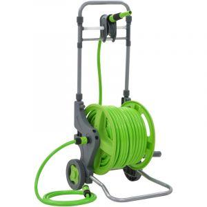 Image de VidaXL Enrouleur de tuyau avec roues 45+2 m