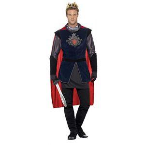 Smiffy's 43417XL Déguisement Homme Roi Arthur, Multicolore, Taille XL