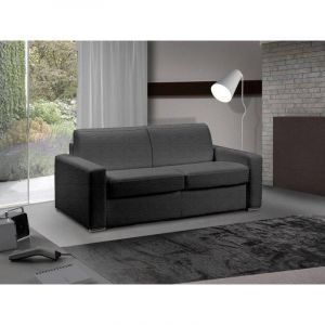 INSIDE Canapé lit 3 places MASTER convertible système RAPIDO 140 cm Tweed Cross gris graphite MATELAS 18 CM INCLUS