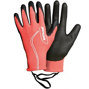 Rostaing MAXTEEN.F-ITU Gant Serie Touch Ado. Travaux Précision Leash Poignet Fonction Tactile, Noir/Rose, 19 x 11 x 2.5 cm