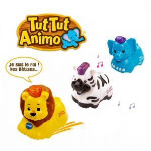 Vtech Tut Tut Animo Coffret trio Savane : lion + zèbre + éléphant