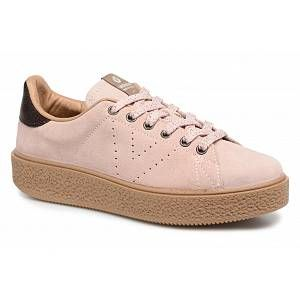 Victoria Deportivo Serraje, Baskets Basses Mixte Adulte, Rose (Nude), 41 EU
