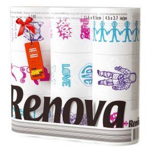 Renova Papier hygiénique 3 plis design x 9