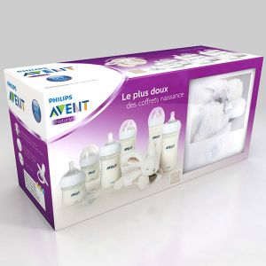 Philips Avent Coffret naissance 6 biberons Natural + doudou offert