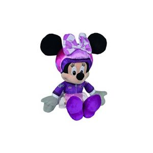 Simba Toys Peluche Disney Minnie avec tenue F1 25 cm